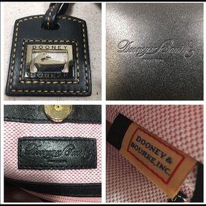 Dooney & Bourke Bags - Dooney & Bourke Croco Double Strap Tassel Bag